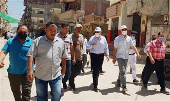 محافظ الشرقية يتفقد عددًا من شوارع القرين لمتابعة أعمال النظافة والتجميل