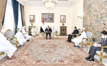 الرئيس السيسي يستقبل سلطان طائفة البهرة بالهند ويشيد بدور مصر إقليميا