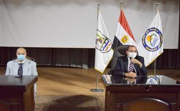 رئيس جامعة بني سويف يترأس اجتماع مجلس شئون التعليم والطلاب