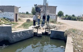 مسئولو ري غرب البحيرة يتفقدون مناسيب المياه وحالة الري لعدد من الترع| صور