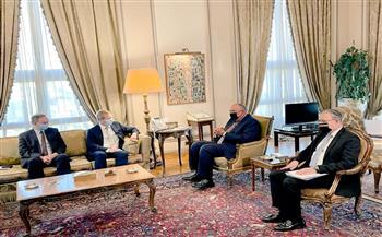 شكري يناقش مع ممثل الاتحاد الأوروبي للسلام وقف إطلاق النار وتحقيق التهدئة المستدامة بقطاع غزة