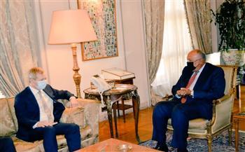 القضية الفلسطينية تتصدر مناقشات لقاء وزير الخارجية والممثل الخاص للاتحاد الأوروبي لعملية السلام| صور