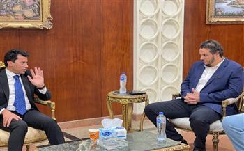 ممدوح عيد يستقبل وزير الشباب والرياضة