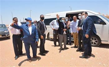 وفدا محافظة كفر الشيخ والمنوفية يتفقدان موقع مشروع الجذب السكاني في أبو طرطور| صور
