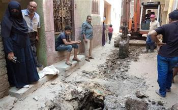 إحلال وتجديد خط خفض منسوب الصرف الصحي في قرية البرنس بمشاركة المجتمع المدني