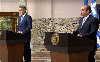 الرئيس السيسي ورئيس الوزراء اليوناني يؤكدان ضرورة إعادة الطرفين الفلسطيني والإسرائيلي إلى المفاوضات