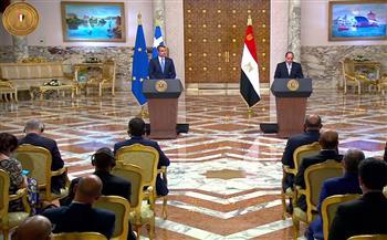 تفاصيل مباحثات الرئيس السيسي ورئيس وزراء اليونان