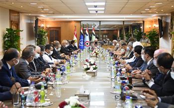 الفريق أول محمد زكي يلتقي وفدًا من أعضاء لجنة الدفاع والأمن القومي بمجلس النواب