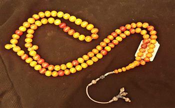 """""""سبحة""""مصنوعة من الكهرمان ترجع لعصر محمد علي.. قطعة شهر يونيو بمتحف قصر المنيل"""