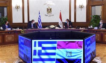 """مدبولي لرئيس الوزراء اليوناني: نعمل على التعاون والربط الكهربائي عبر جزيرة """"كريت"""".. وتصدير الغاز لأوروبا"""