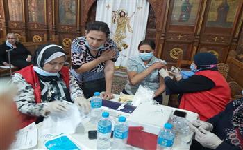 «صحة الفيوم»: تطعيم 237 من المصلين بكنيسة مارجرجس بلقاح كورونا   صور