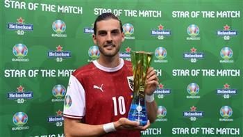 فلوريان جريليتش يفوز بجائزة أفضل لاعب في مباراة النمسا وأوكرانيا