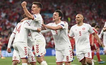 الدنمارك يتقدم على روسيا بهدف نظيف في الشوط الأول