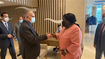 تفاصيل لقاء وزير الري مع وزيرة خارجية جنوب السودان |صور