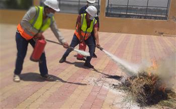 برنامج تدريبي لأخصائي السلامة والصحة المهنية بمحطات مياه أسيوط صور