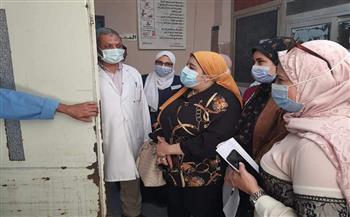 وكيلة صحة المنوفية تتفقد مستشفى بركة السبع و مركز تلقي لقاح كورونا   صور