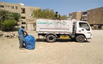 رئيس مدينة القصير يوجه برفع المخلفات وتكثيف أعمال النظافة   صور