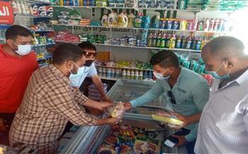 ضبط 12 مخالفة وإعدام لحوم فاسدة خلال حملات على الأسواق ومنافذ بيع السلع الغذائية بالقصير   صور