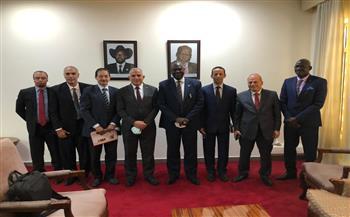 وزير الري يعقد جلستي مباحثات مع النائب الأول لرئيس جنوب السودان ونظيره في جوبا   صور