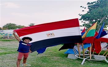 أدهم الكيلانى: سعيد بمشاركتي  بطولة العالم للخماسي الحديث