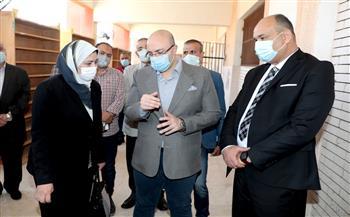 محافظ بني سويف يتابع سير العمل بكنترول التعليم الصناعي لامتحانات 32 ألف طالب |صور