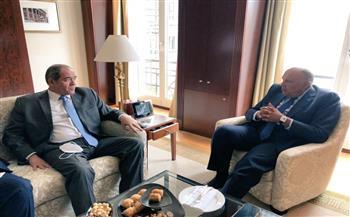 وزير الخارجية يبحث مع نظيره الجزائرى تعزيز العلاقات الثنائية بين البلدين|صور