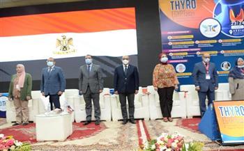 رئيس جامعة أسيوط يفتتح المؤتمر العلمي السنوي الثاني للجمعية المصرية للغدة الدرقية 2021 | صور