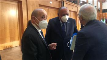وزير الخارجية يعقد لقاءً مع نظيره الفرنسى والممثل الأعلى للسياسة الخارجية للاتحاد الأوروبي