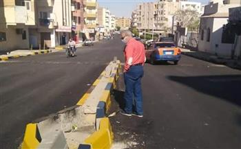 رئيس مدينة الغردقة يتفقد أعمال التطوير بشارع الشهر العقاري القديم |صور
