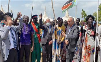 وزير الري يفتتح محطة مياه أنشأتها مصر في جنوب السودان  صور