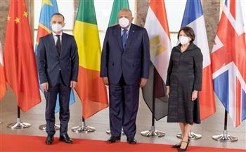 """وزير الخارجية يشيد بالدور المحوري والجهود المكثفة لدول الجوار الليبي خلال """"مؤتمر برلين 2"""""""