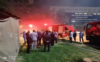اشتعال 6 سيارات.. السيطرة على حريق الصوبات الزراعية بمنطقة الدقي| صور وفيديو