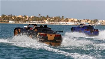 شباب مصريون يخترعون سيارة تمشي فوق المياه  فيديو