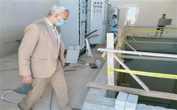 رئيس مركز البداري يتفقد محطة معالجة وأعمال رصف بالقرى | صور