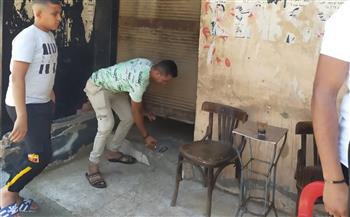 تشميع 3 مقاهي ومصادرة 18 شيشة في مركز السنطة بالغربية