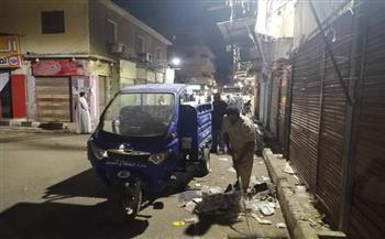 تحرير 43 محضر إشغال ونظافة في حملة بمدينة الأقصر