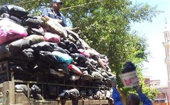 رفع 179 طن قمامة في حملات نظافة بقرى مركز شبين الكوم بالمنوفية | صور