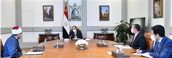 الرئيس السيسي يوجه بتعزيز الاهتمام بدعم الأئمة فيما يتعلق بأحوالهم المالية وتطوير برامج التدريب