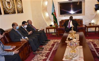 وزير الري: مصر تنفذ المشروعات التي تلبي احتياجات مواطني جنوب السودان  صور