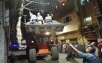 تحرير 23 محضر مضبوطات في حملة على المدينة بالأقصر  صور