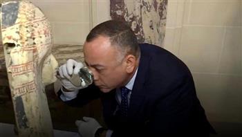 وزيري: القطع الأثرية المستردة من فرنسا تعود لحقب مختلفة من الحضارة المصرية صور