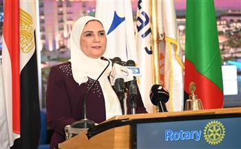 وزيرة التضامن الاجتماعي تشارك في المؤتمر السنوي الثامن للمنطقة الروتارية نيابة عن رئيس الوزراء  صور