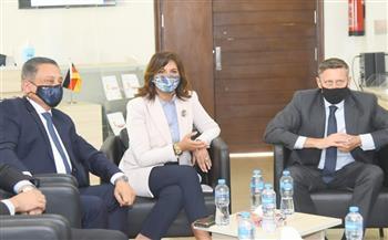 وزيرة الهجرة وسفير ألمانيا يزوران المركز المصري ـ الألماني للوظائف والهجرة وإعادة الإدماج