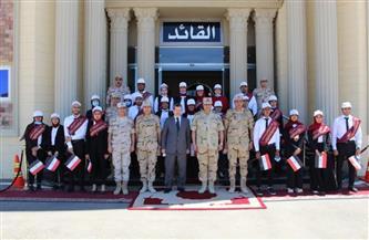 المنطقة الغربية العسكرية تستقبل وفدا من جامعة مرسى مطروح   صور