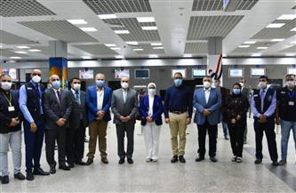 تفاصيل جولة وزراء الصحة والطيران المدني والسياحة بمطار الغردقة الدولي | صور