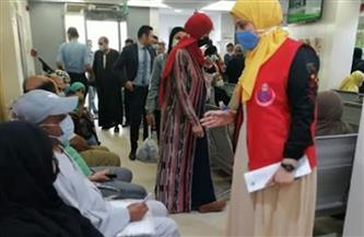 """""""صحة الشرقية"""": تطعيم أصحاب المعاشات بمكاتب الصرف بلقاح كورونا"""