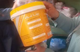 ضبط مواد مجهولة المصدر داخل مصنع منسوجات طبية بأشمون بالمنوفية |صور