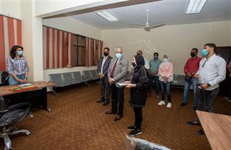 بدء التشغيل الفعلي لوحدة التضامن الاجتماعي بجامعة بورسعيد   صور