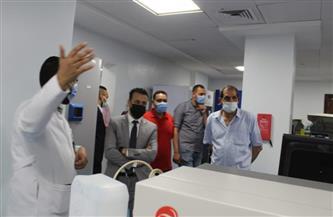 وفد من جامعة الأقصر يتفقد البنية المعلوماتية لمستشفى شفاء الأورام |صور