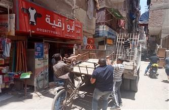 رفع 36 حالة إشغال طريق خلال حملة مكبرة وسط الإسكندرية